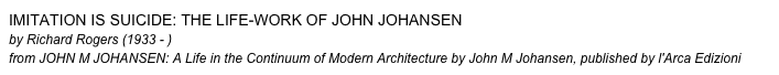 Imitation Is Suicide: The Life-work of John Johansen 